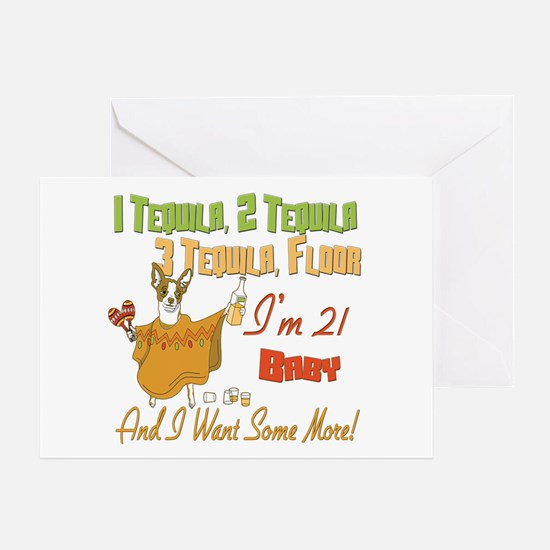 Tequila 21st Greeting Card