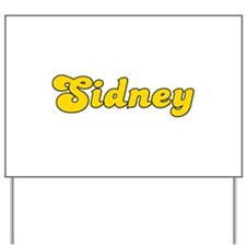 Retro Sidney (Gold) Yard Sign