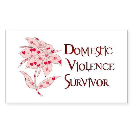 Domestic Abuse Survivor Rectangle Sticker