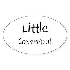 Little Cosmonaut Oval Sticker