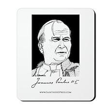 Pope John Paul the Great Signature Mousepad