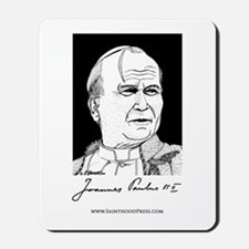 Pope John Paul the Great Signature Mousepad