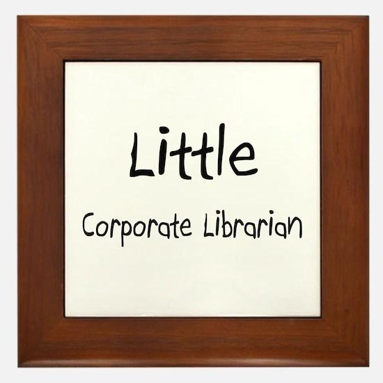 Little Corporate Librarian Framed Tile