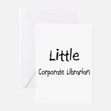 Little Corporate Librarian Greeting Cards (Pk of 1