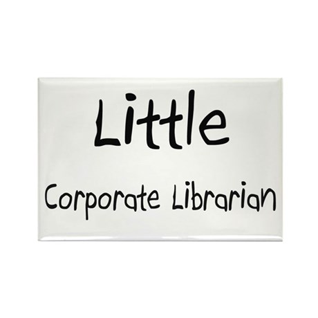 Little Corporate Librarian Rectangle Magnet (10 pa