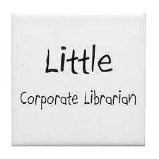 Little Corporate Librarian Tile Coaster