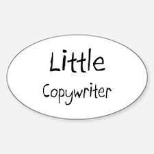 Little Copywriter Oval Decal