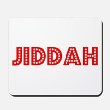 Retro Jiddah (Red) Mousepad