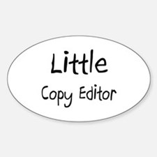 Little Copy Editor Oval Decal