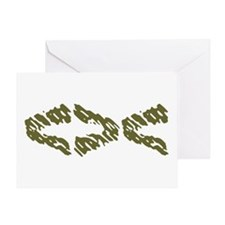 Khaki Fish Greeting Card