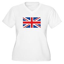UK Womes Plus-Size V-Neck T-Shirt