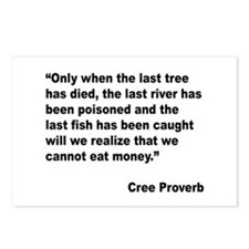 Cree Environment Proverb Postcards (Package of 8)