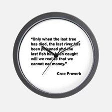 Cree Environment Proverb Wall Clock
