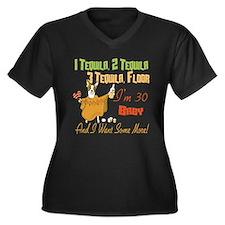 Tequila 30th Women's Plus Size V-Neck Dark T-Shirt