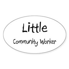 Little Community Worker Oval Decal