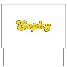 Retro Sophy (Gold) Yard Sign