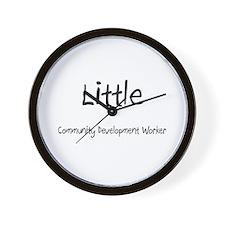 Little Community Development Worker Wall Clock