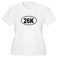 26K Womes Plus-Size V-Neck T-Shirt