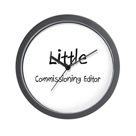 Little Commissioning Editor Wall Clock