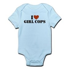 I Love Girl Cops Infant Bodysuit