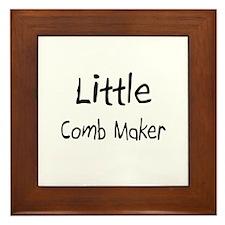 Little Comb Maker Framed Tile