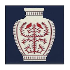 Asian Vase (Blue) Tile Coaster