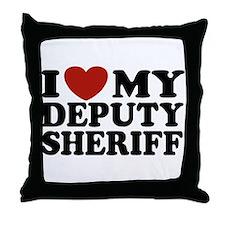 I Love My Deputy Sheriff Throw Pillow