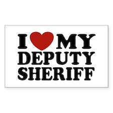 I Love My Deputy Sheriff Rectangle Decal