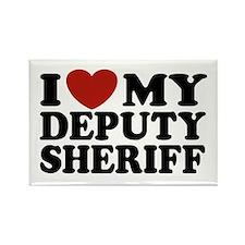 I Love My Deputy Sheriff Rectangle Magnet