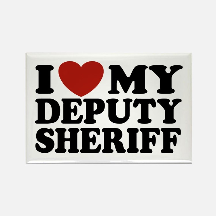 I Love My Deputy Sheriff Rectangle Magnet