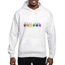 Rainbow Bear Tracks Hoodie Sweatshirt