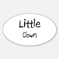 Little Clown Oval Decal