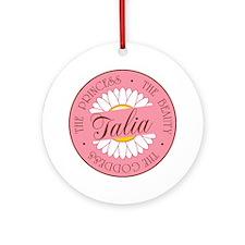 Talia Princess Beauty Goddess Ornament (Round)