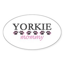 YORKIE MOMMY Oval Decal