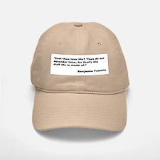 Benjamin Franklin Love Life Quote Baseball Baseball Cap