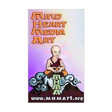 Mind Heart Media Art Mascot Rectangle Decal