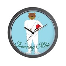 Teddy Fencer Wall Clock