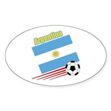 Argentina Soccer Team Oval Sticker (50 pk)