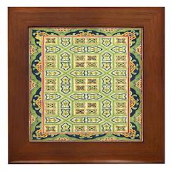 China (Green) Framed Tile