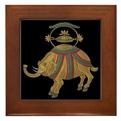 Decorative Asian Elephant 2 Framed Tile