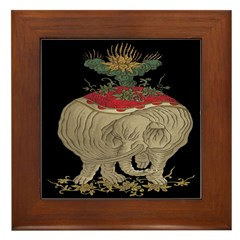 Decorative Asian Elephant Framed Tile
