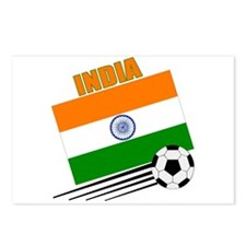India Soccer Team Postcards (Package of 8)