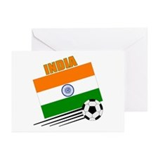 India Soccer Team Greeting Cards (Pk of 10)