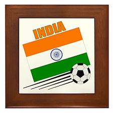 India Soccer Team Framed Tile