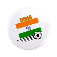 """India Soccer Team 3.5"""" Button (100 pack)"""