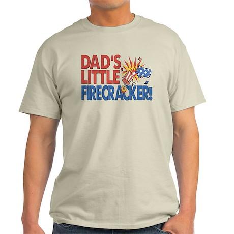 Dad's Little Firecracker Light T-Shirt