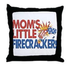 Mom's Little Firecracker Throw Pillow