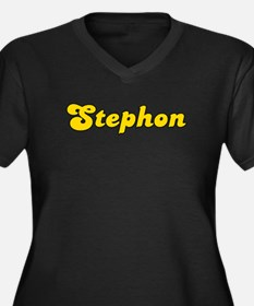Retro Stephon (Gold) Women's Plus Size V-Neck Dark