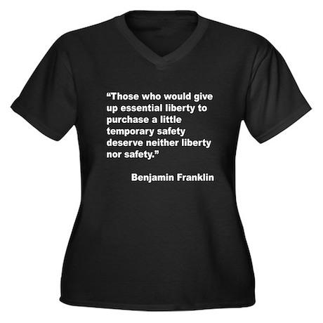 Benjamin Franklin Liberty Quote (Front) Women's Pl