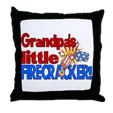 Grandpa's Little Firecracker Throw Pillow